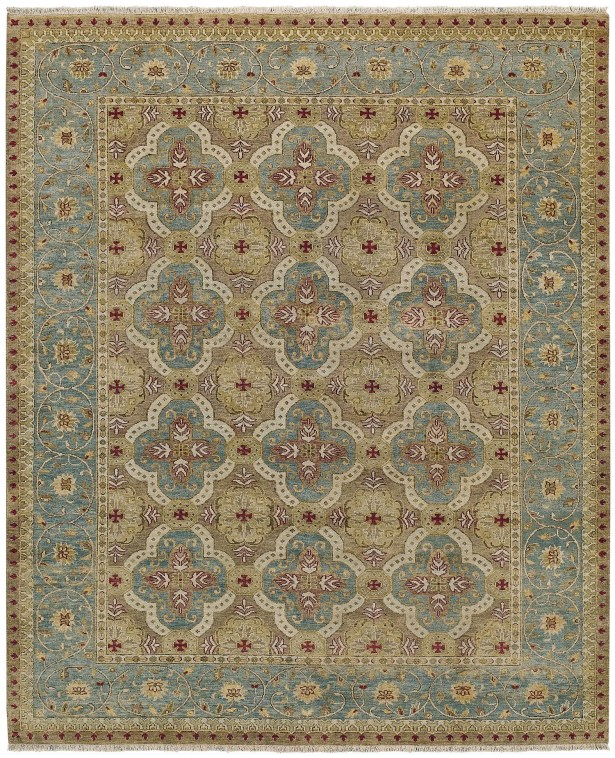 Brandon Hand Knotted Ocean Area Rug Rug Size: 7'6