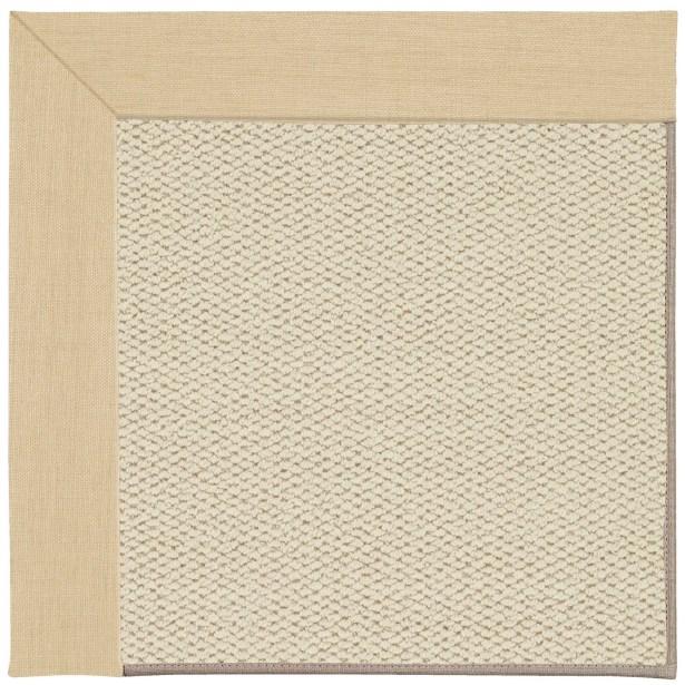 Barrett Linen Machine Tufted Ivory/Beige Area Rug Rug Size: Rectangle 7' x 9'