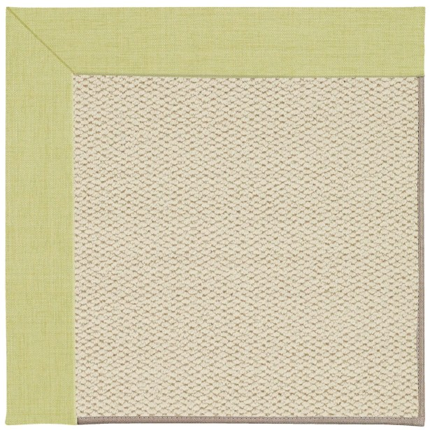 Barrett Linen Machine Tufted Light Green/Beige Area Rug Rug Size: Square 4'