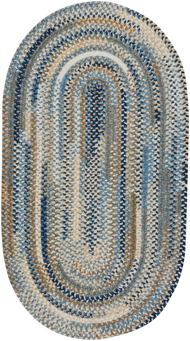 Eben Blue Area Rug Rug Size: Oval 8' x 11'