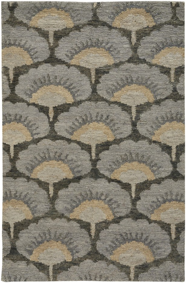 Chappell Hand-Knotted Gray/Beige Area Rug Rug Size: 5' x 8'