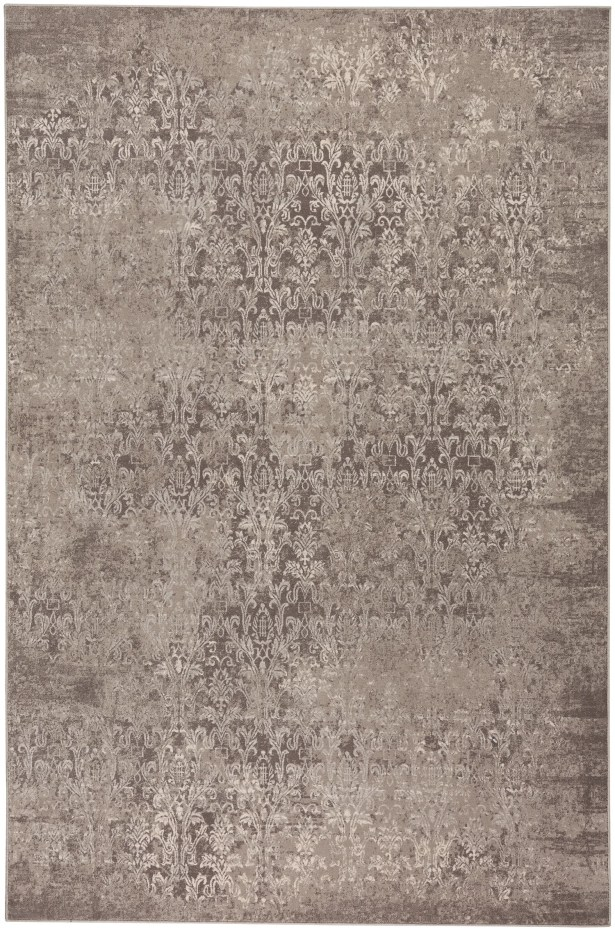 Oyler Victoria Wool Brown Area Rug Rug Size: 9'2