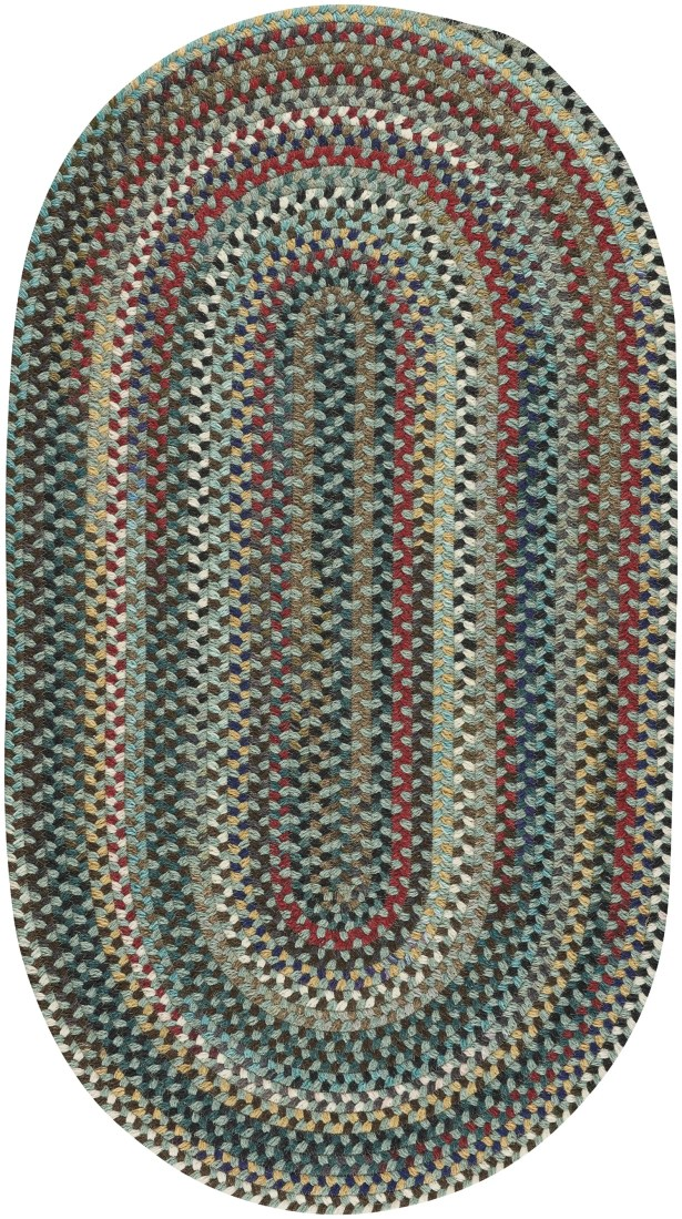 Heidi Traditional Green/Red Area Rug Rug Size: Oval 3' x 5'