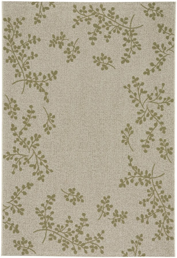 Jacqueline Winterberry Green Outdoor Area Rug Rug Size: 7'10