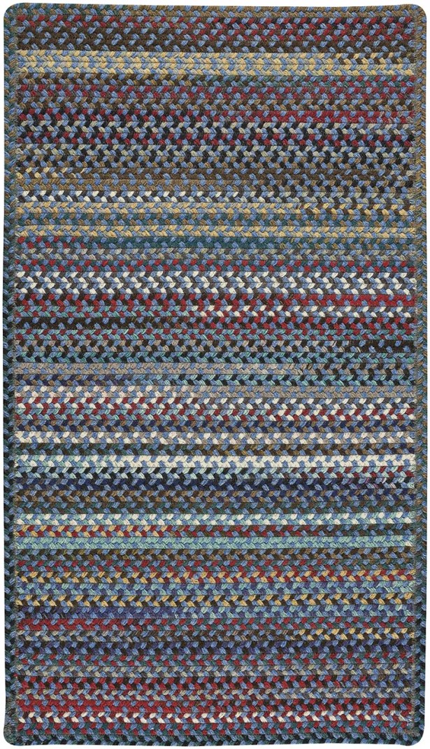 Heidi Blue/Red Area Rug Rug Size: Square 3'6