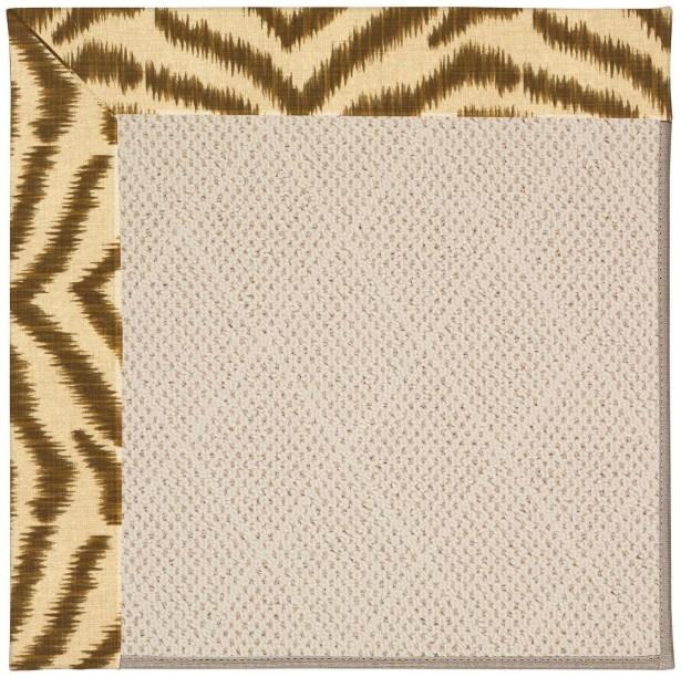 Lisle Light Brown Indoor/Outdoor Area Rug Rug Size: Rectangle 9' x 12'