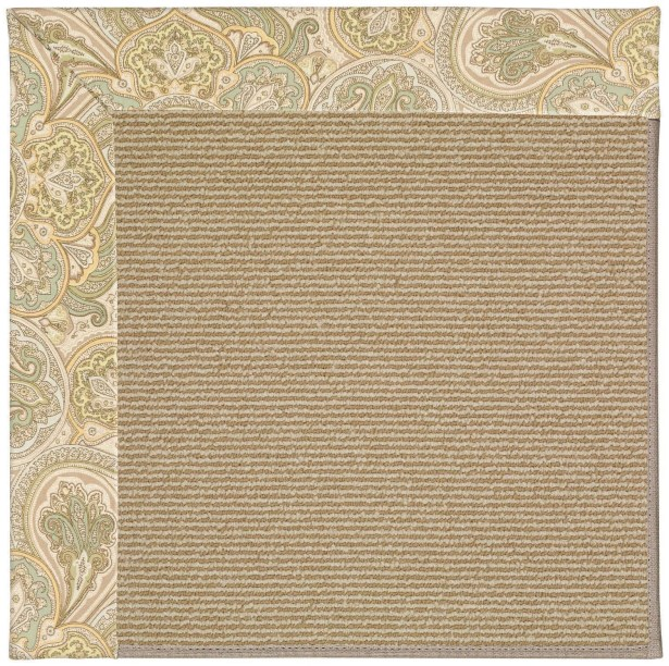 Lisle Machine Tufted Quarry/Brown Indoor/Outdoor Area Rug Rug Size: Square 10'