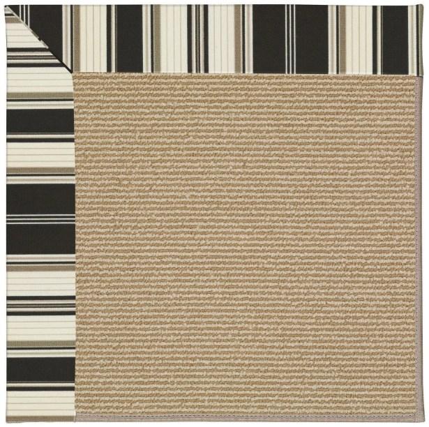 Lisle Brown Indoor/Outdoor Area Rug Rug Size: Rectangle 2' x 3'