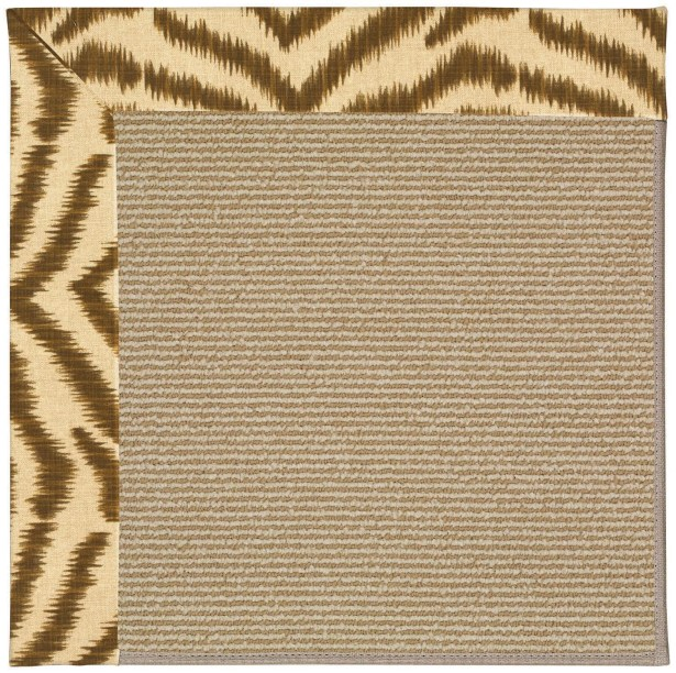 Lisle Machine Tufted Tawny/Brown Indoor/Outdoor Area Rug Rug Size: Rectangle 12' x 15'