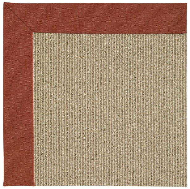 Lisle Machine Tufted Strawberry/Brown Indoor/Outdoor Area Rug Rug Size: Square 8'