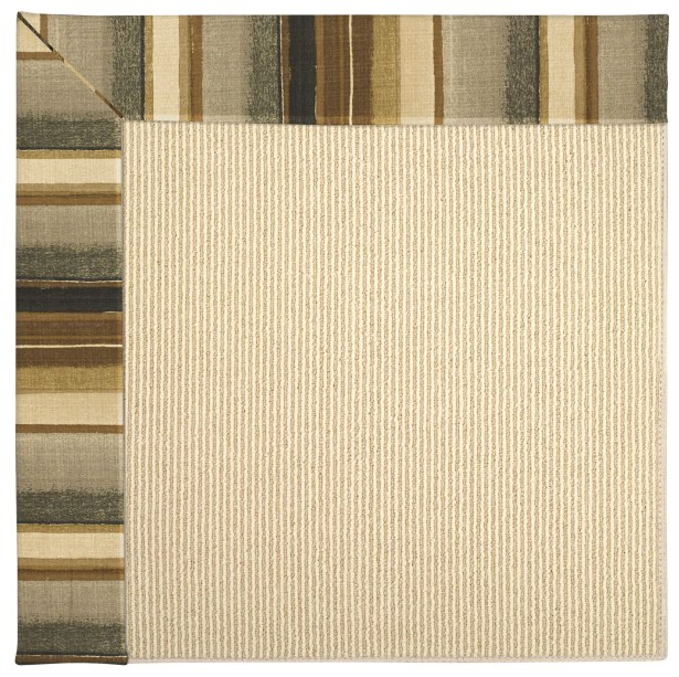 Lisle Machine Tufted Cinders/Brown Indoor/Outdoor Area Rug Rug Size: Square 10'