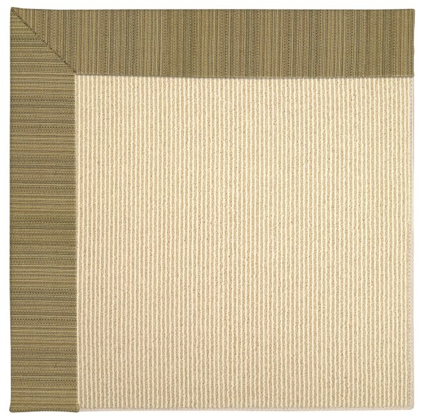 Lisle Machine Tufted Green/Brown Indoor/Outdoor Area Rug Rug Size: Square 10'