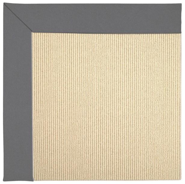 Lisle Sisal Machine Tufted Beige/Ash Indoor/Outdoor Area Rug Rug Size: Round 12' x 12'