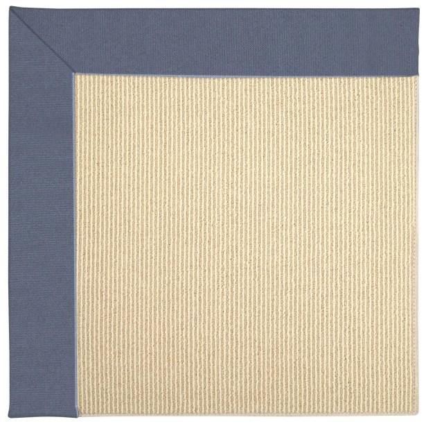 Lisle Machine Tufted Azure/Brown Indoor/Outdoor Area Rug Rug Size: Rectangle 7' x 9'