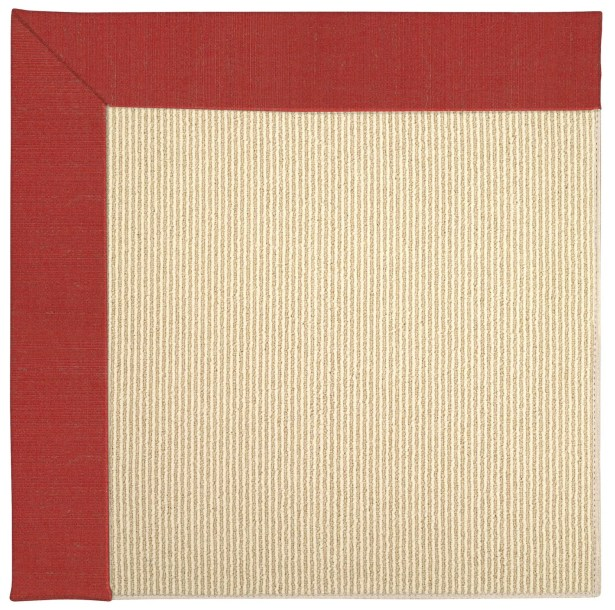 Lisle Machine Tufted Red Crimson/Beige Indoor/Outdoor Area Rug Rug Size: Square 8'