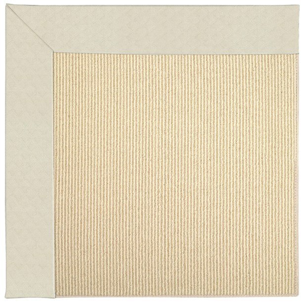 Lisle Machine Tufted Cream/Brown Indoor/Outdoor Area Rug Rug Size: Round 12' x 12'