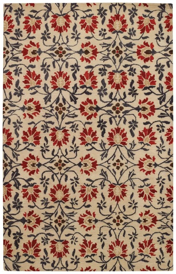 Rosana Rouge Floral Area Rug Rug Size: Rectangle 9' x 12'