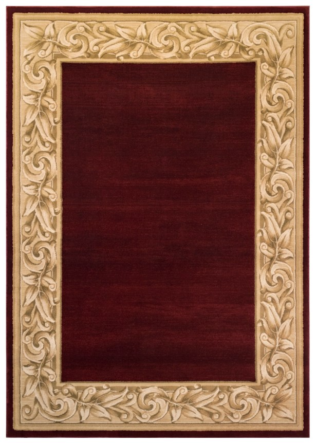 Calibogue Cay Red Area Rug Rug Size: 7'11