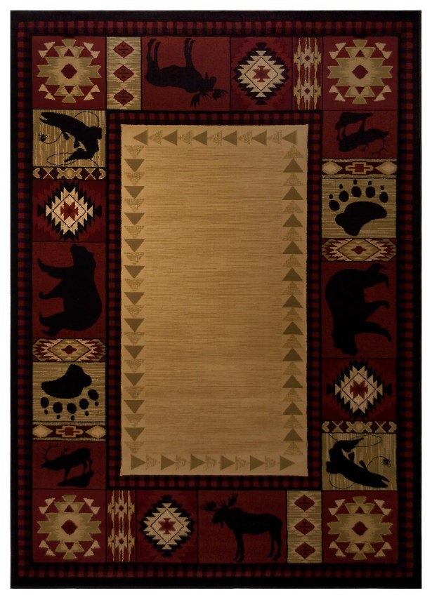 Spicewood Red Area Rug Rug Size: 4' x 5'7