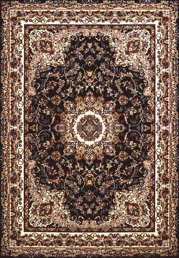Antiquities Black/Beige Area Rug Rug Size: 5'3