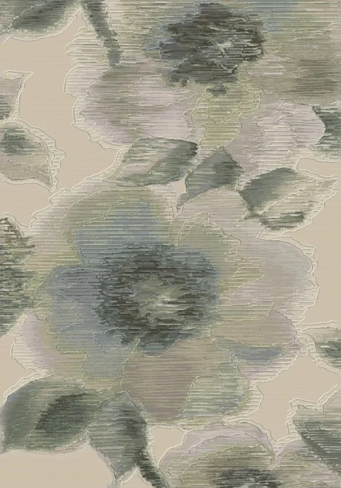 Lois Grey Floral Area Rug Rug Size: Rectangle 3'11