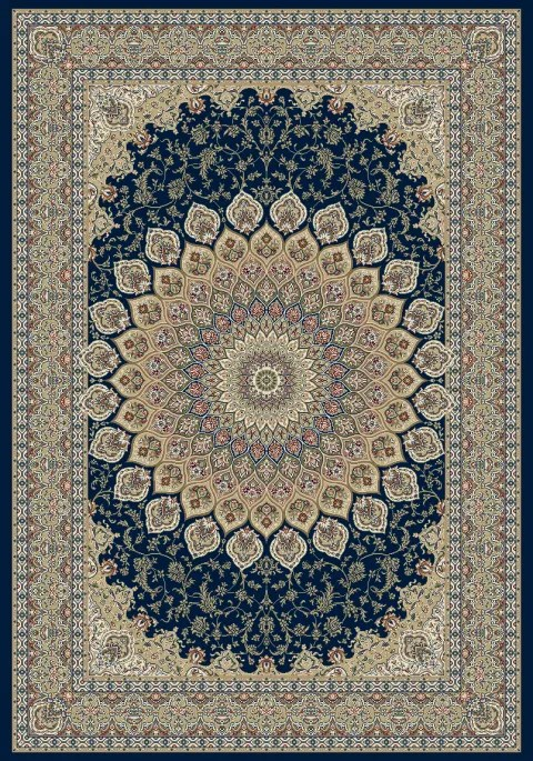 Attell Persian Navy Area Rug Rug Size: Rectangle 7'10