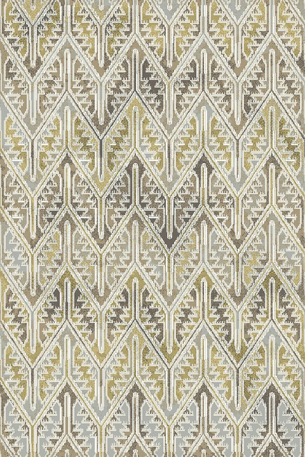 Edgao Gray/Yellow Area Rug Rug Size: Rectangle 5'3