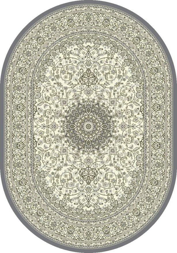 Attell Oriental Cream/Gray Area Rug Rug Size: Oval 6'7
