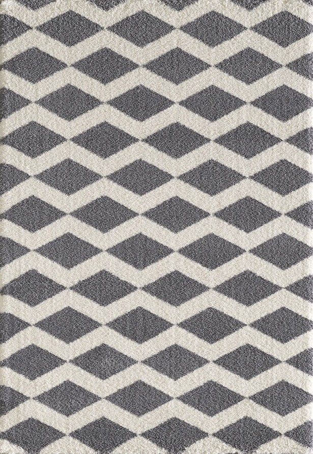Lowes Gray/White Area Rug Rug Size: Rectangle 9'2