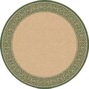 Piazza Tan/Green Indoor/Outdoor Area Rug Rug Size: Round 5'3