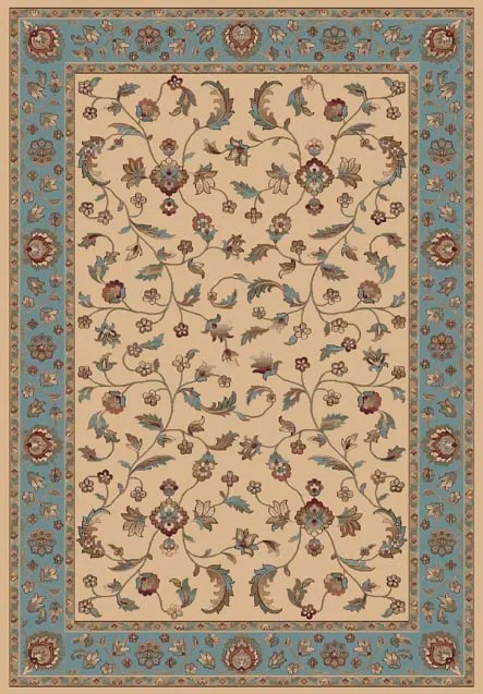 Radiance Blue/Beige Area Rug Rug Size: Rectangle 9'2