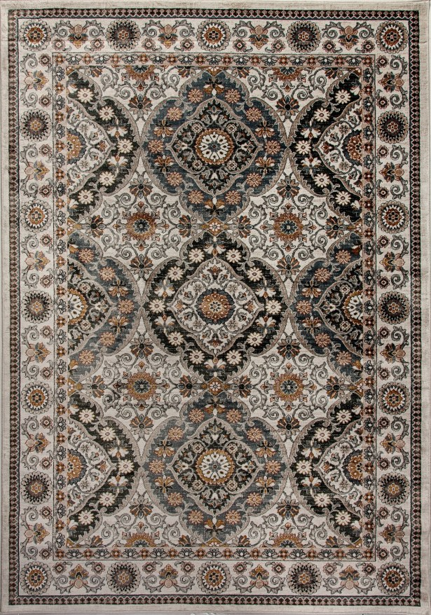 Eldorado Gray/Beige Area Rug Rug Size: Rectangle 9'2