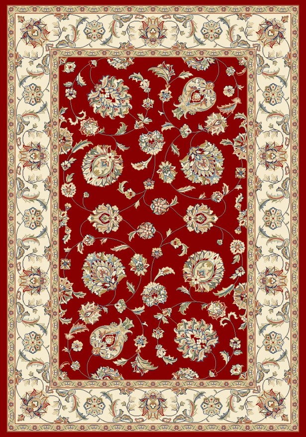 Attell Red/Ivory Area Rug Rug Size: Rectangle 7'10