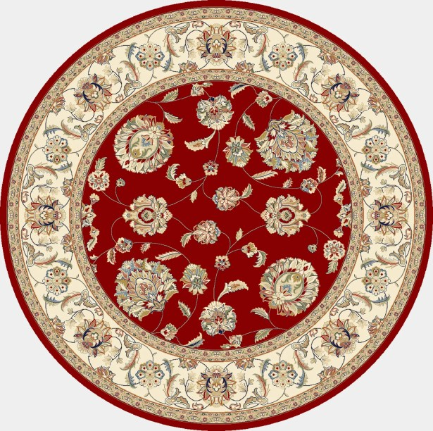 Attell Red/Ivory Area Rug Rug Size: Round 7'10