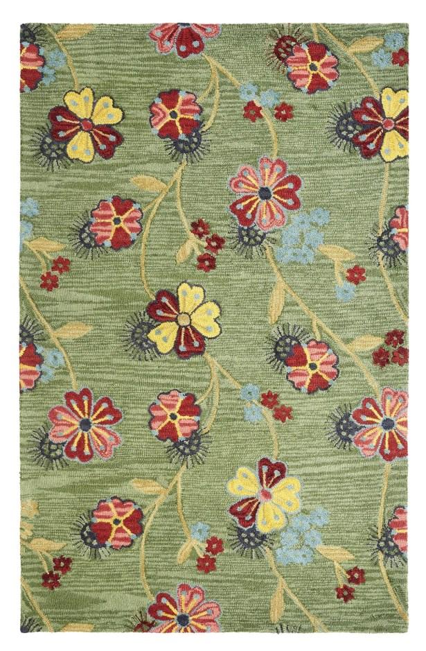 Dream Handwoven Flatweave Wool Green Area Rug Rug Size: Rectangle 8' x 11'