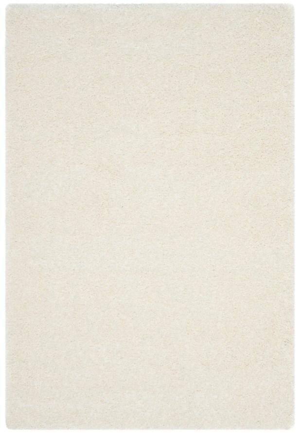Virgo White Shag Area Rug Rug Size: Rectangle 4' x 6'