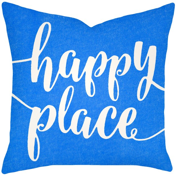 Bolte Happy Place 100% Cotton Throw Pillow Size: 20