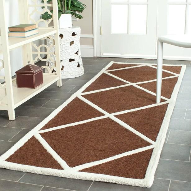 Darla Hand-Tufted Wool Dark Brown/Ivory Area Rug Rug Size: Rectangle 8' x 10'