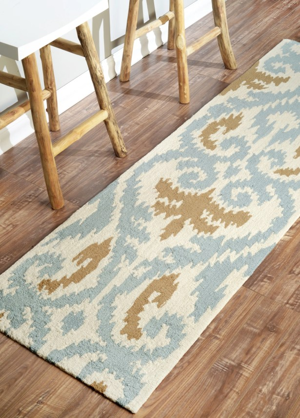 Rutherford Hand-Tufted Beige/Blue Rug Rug Size: Rectangle 9' x 12'