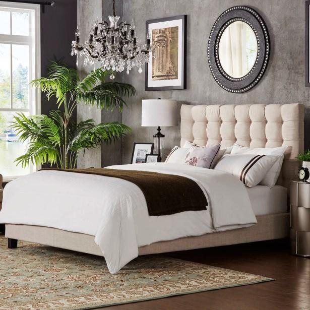 Bourdon Upholstered Panel Bed Upholstery Color: Gray, Size: Full