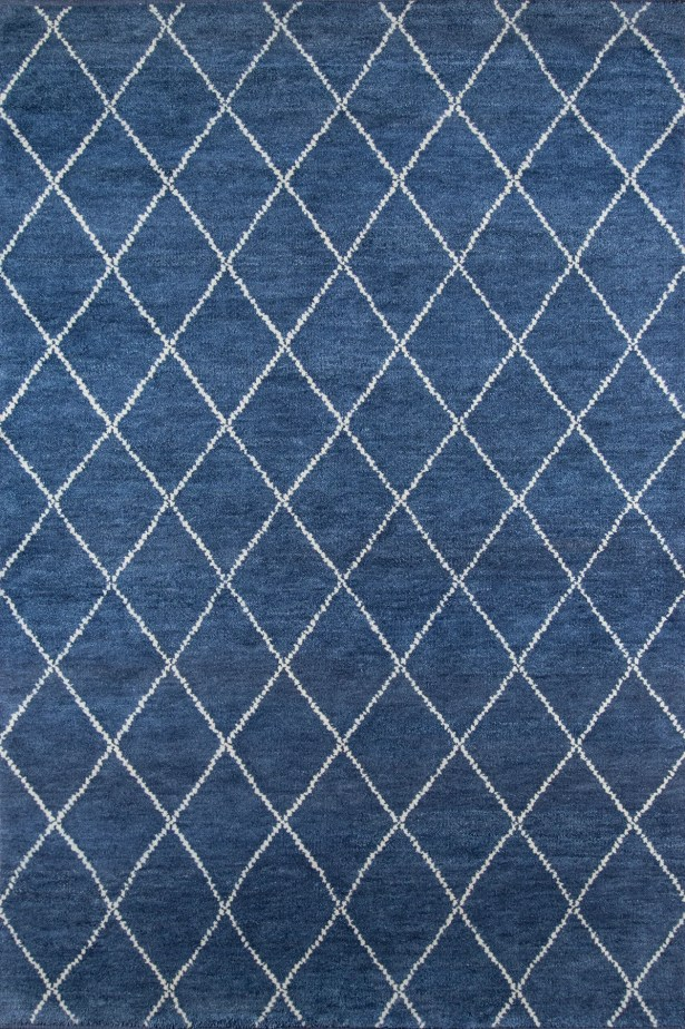 Brice Hand-Knotted Navy Area Rug Rug Size: Rectangle 2' x 3'