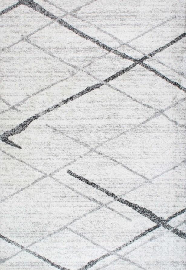 Azha Broken Light Gray Area Rug Rug Size: Rectangle 5' x 8'
