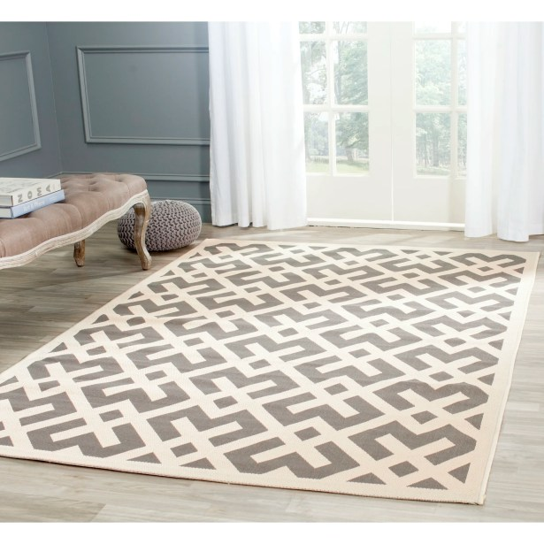 Mirabelle Gray/Bone Indoor/Outdoor Area Rug Rug Size: Square 7'10