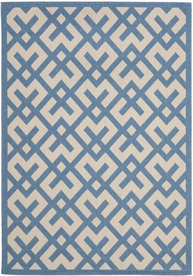 Quinlan Beige/Blue Indoor/Outdoor Rug Rug Size: Rectangle 6'7
