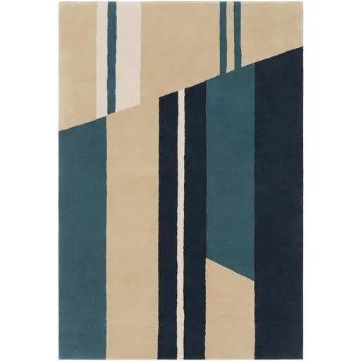 Lina Hand-Tufted Modern Area Rug Rug Size: 5' x 7'6