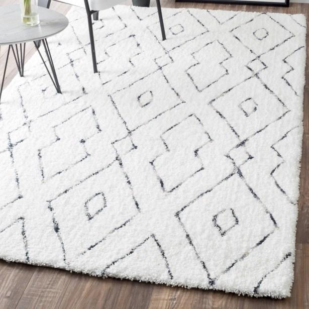 Peraza Hand-Tufted White Area Rug Rug Size: Rectangle 12' x 15'