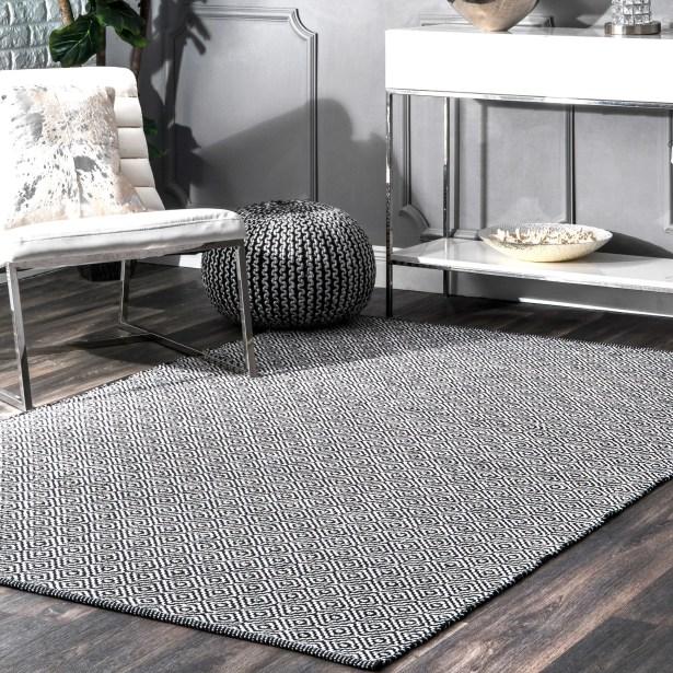 Kjetil Hand-Woven Gray Area Rug Rug Size: Rectangle 9' x 12'