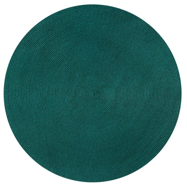 Braided Stripe Green/Beige Area Rug Rug Size: Round 6'