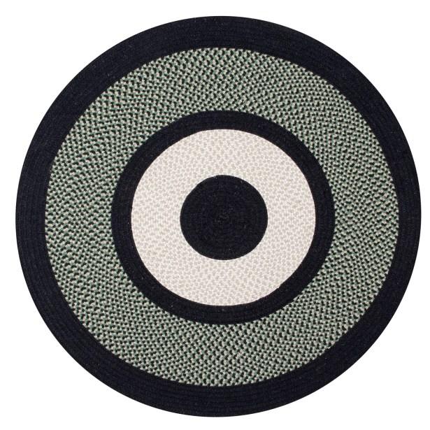 Portland Wool Braid Green Area Rug Rug Size: Round 5'6