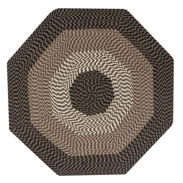 Vienne Chocolate Area Rug Rug Size: Octagonal 8'